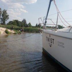 Cumowanie jachtu na dziko